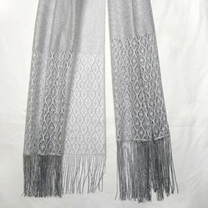Cejon Accessories - NWT CEJON Silver Metallic Shimmer Shawl Wrap
